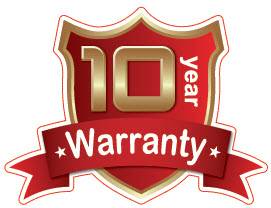 10 YEAR MANUFACTURER'S WARRANTY - UNHEARD OF IN THE INDUSTRY!