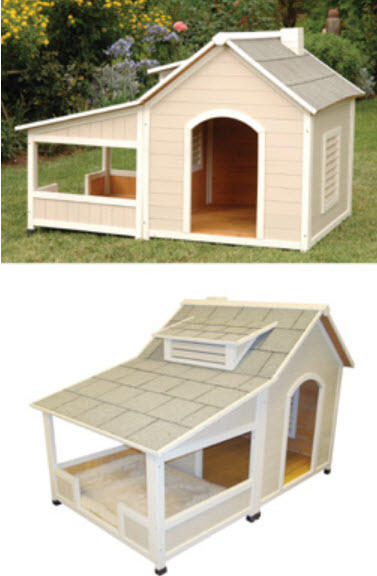 Outback Savannah - Large Insulted-Wood Heated-Air Conditioned Dog House