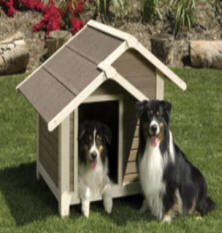 Large and Small Insulated Dog House by Precision Pet - OUTBACK TWIN PEAKS Model