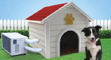 Dog House Air Conditioner - FREE SHIP NO TAX on