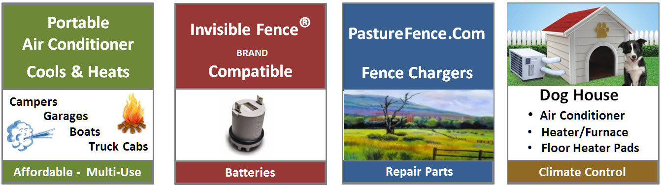 Portable Air Conditioner for Dogs - Invisible Fence Batteries - Fence Chargers - Dog House Air Conditioner