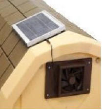 Solar Fan for LARGE Insulated Dog Houes - COZY COTTAGE