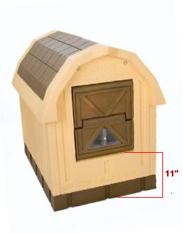Large insulated heated air conditioned dog houses free for Insulated heated dog house