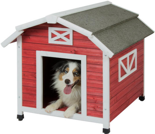 Large Insulated Dog House by Precision Pet - OLD RED BARN