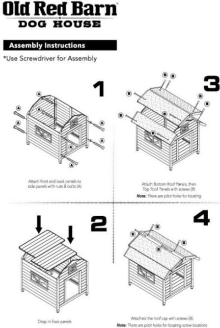 Old Red Barn Assembly Instructions