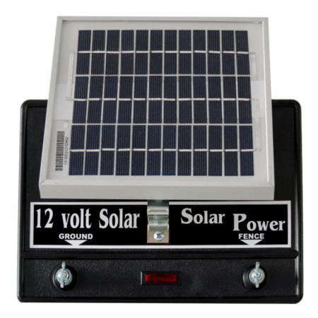Solar Power Fence Charger 25 Mile 2 Joule 100 Acre