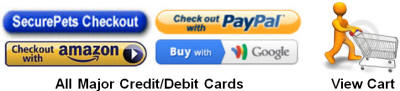 Secure Payments - PayPal - Amazon - Google - All Major Credit and Debit Cards