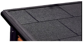Asphalt Shingles on Roof to Shield Heat and Rain