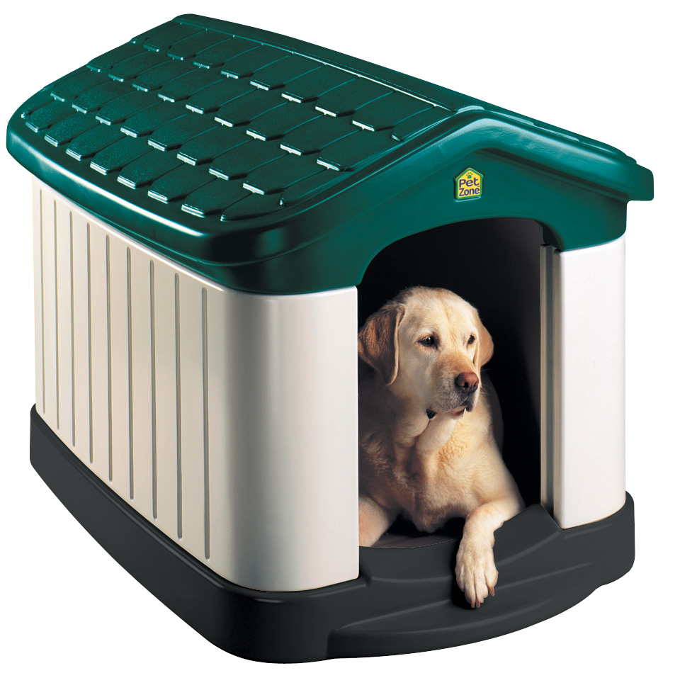 Large insulated heated air conditioned dog houses free for Best dog door for winter