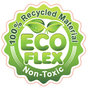 ecoFlex - 100% ReCycled - GREEN - Non-Toxic