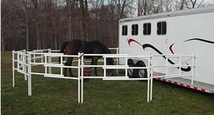 Carri-Lite Corrals - Corral attached to trailer