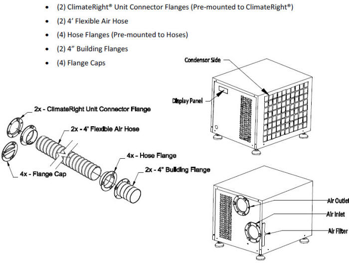 ClimateRight CR-2500-ACH  Connection Kit
